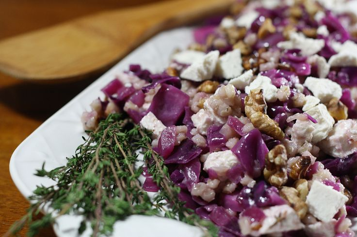Red Cabbage and Ricotta Salata