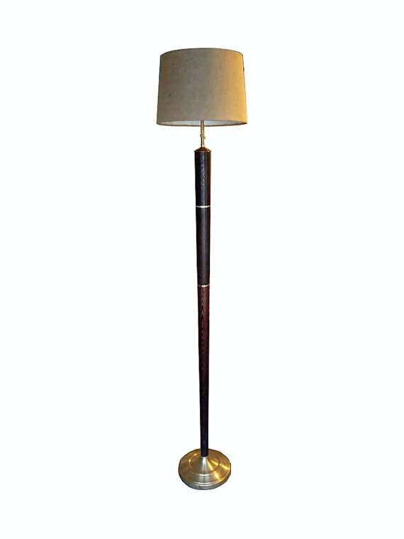Savannah  Wenge and Brass Floor Lamp Aaron by ThomasFineWoodworks