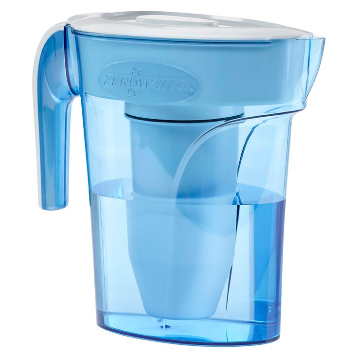 ZeroWater 6 Cup Pitcher with Free Tds Light-Up Indicator (Total Dissolved Solids), Blue