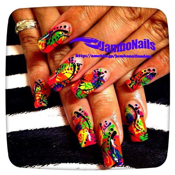 ネオンでラインアート描き放題! スカベース。¥16800 - #nail #nails...