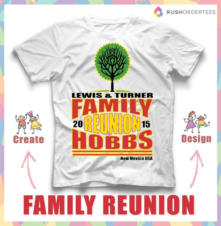 create family reunion custom t shirts design online free easy fun - Family Reunion T Shirt Design Ideas