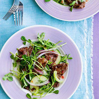 Thai Beef Salad  just needs a Mai Tai