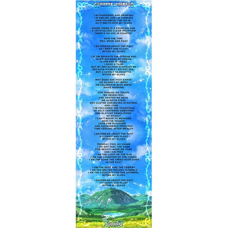 Corinne Crimson GLASS – SINGLE Lyrics Banner #cori…