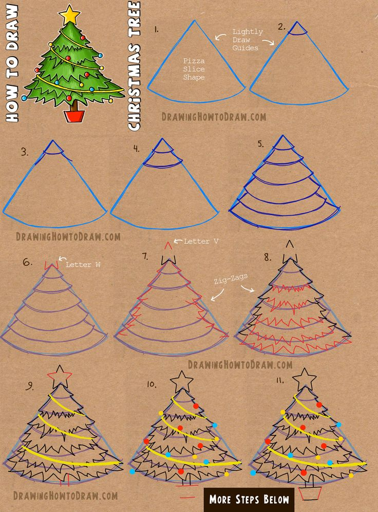 25 unique Christmas tree drawing ideas on Pinterest  Christmas