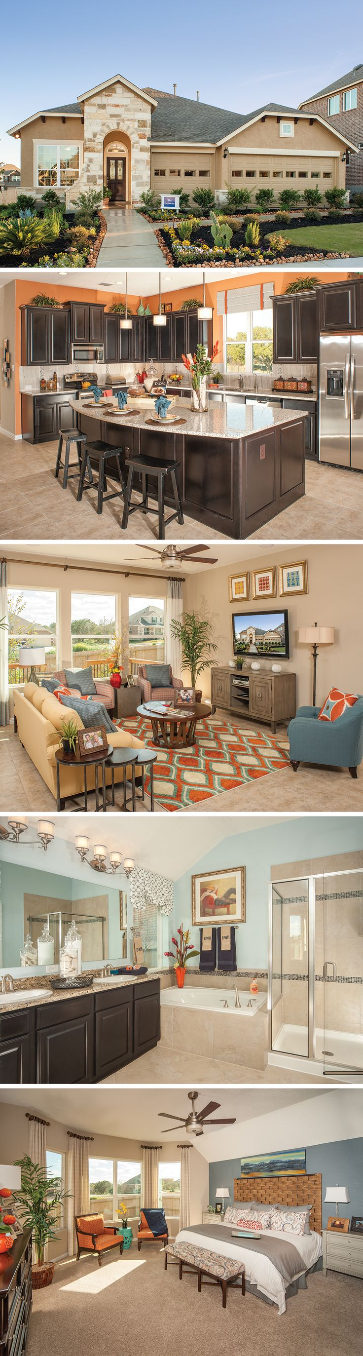 Customize The Hennessey floor plan in San Antonio, TX to fit your family's lifestyle! This plan includes a 3-car garage, study, dining room and a beautiful Owner's Retreat with a massive walks in closet. Some available options include: fourth bedroom downstairs with 3rd bath in lieu of a living room and a second-floor Bonus Room with half or full bath.