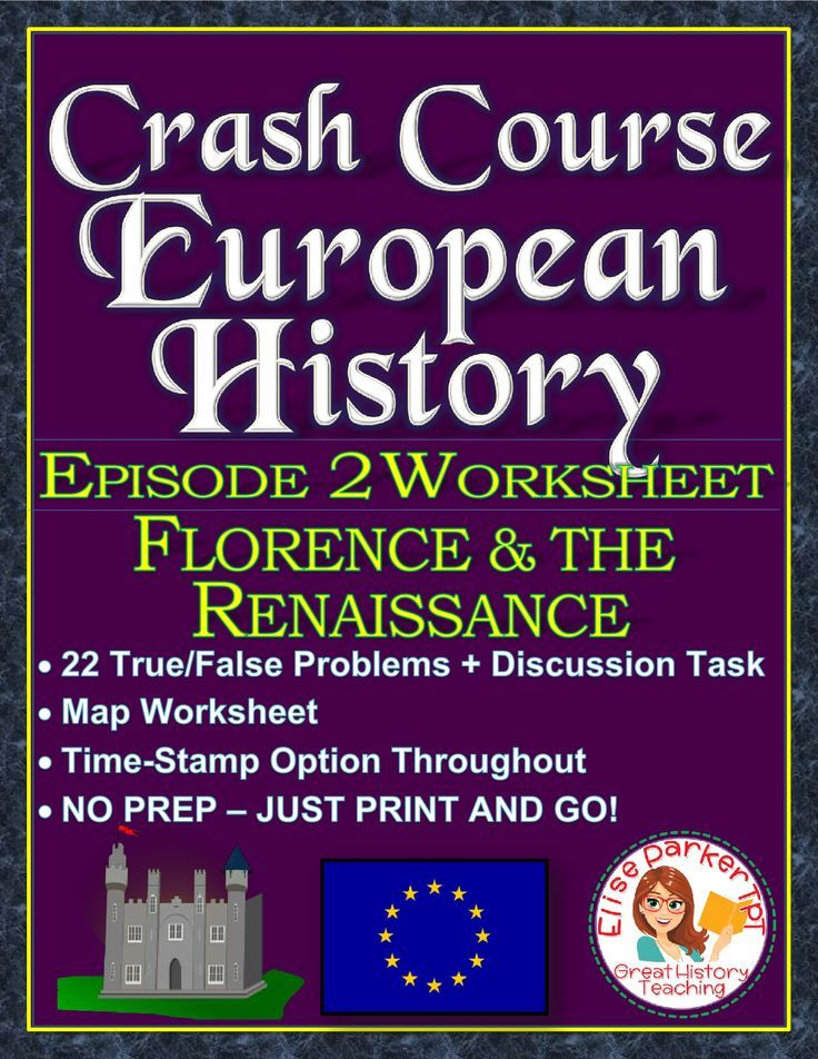 Crash Course European History Episode 2 Worksheet Renaissance