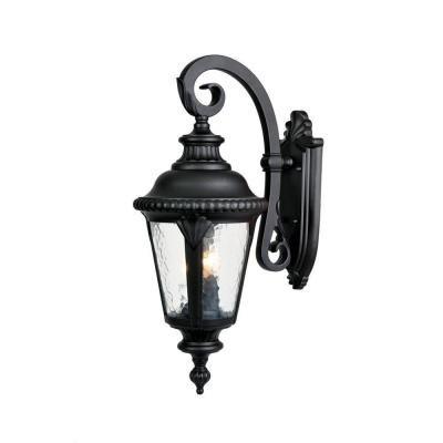 Acclaim Lighting Surrey Collection Wall-Mount 3-Light Outdoor Matte Black Light Fixture-7212BK at The Home Depot