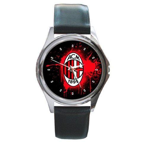 Untique watches AC milan FC logo Round handmade by nonoaslino