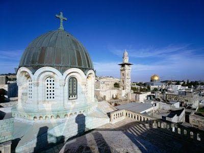 vista de las Cupulas de Jerusalen desde los tejados