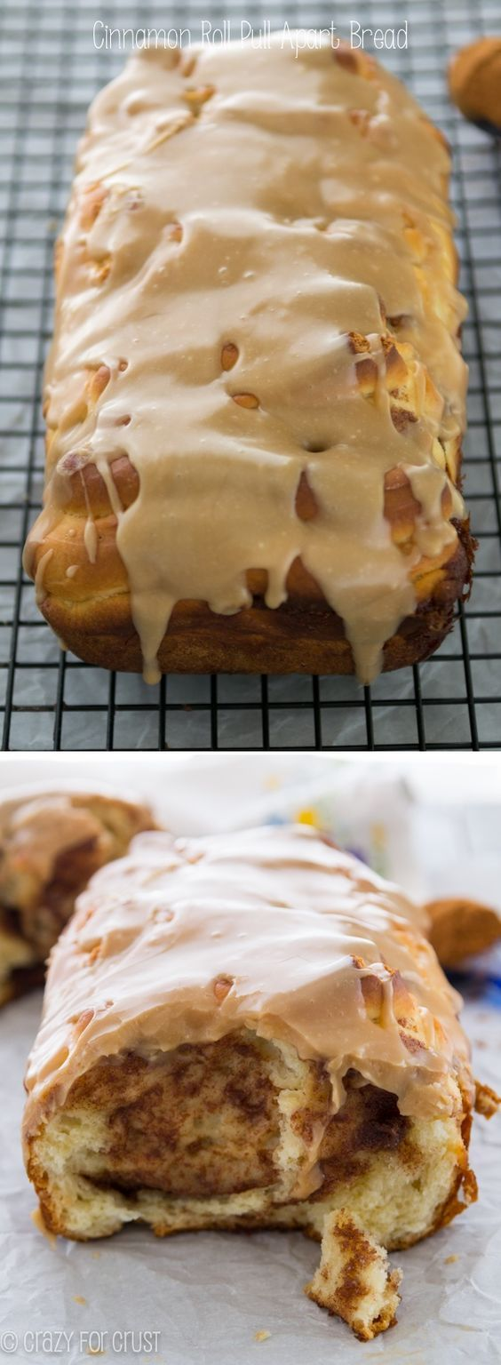 ❤️Cinnamon Roll Pull-Apart Bread - a cinnamon roll in a bread loaf!❤️