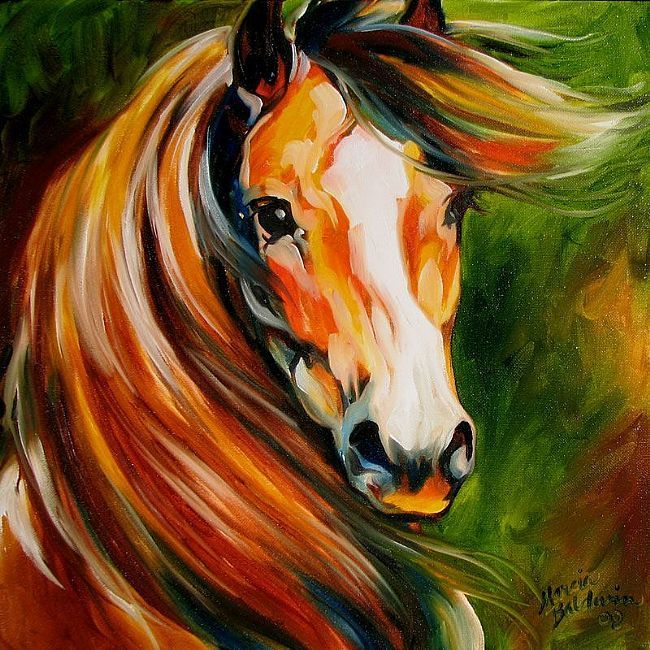 Art: BAY STALLION 1616 by Artist Marcia Baldwin