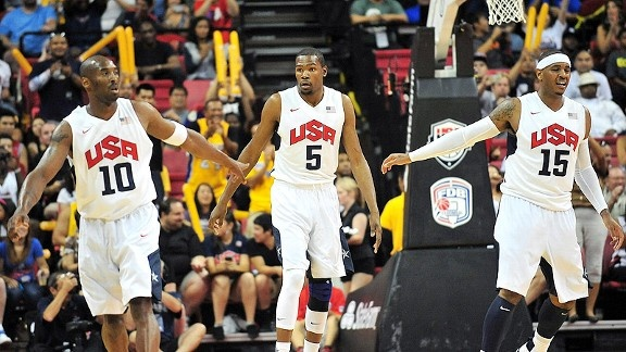 This Team USA basketball team wouldn't beat the Dream team... they need to play a few more games as a team...