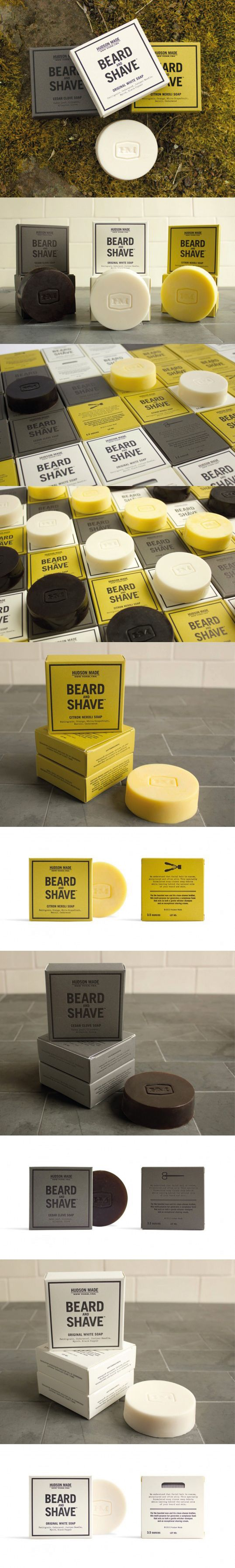 Beard & Shave soap #packaging design by Hudson Made