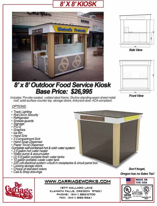 Carriage Works Carts and KIosks in business for over 40 years with over 30,000 sold all over the world .. Known as no.1 in the World.