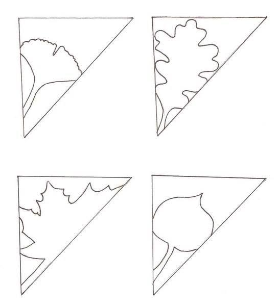 Ажурные осенние узоры - вырезаем из бумаги 2