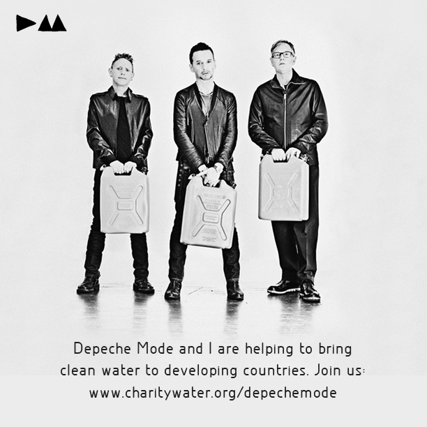 Depeche Mode are teaming up with charity: water and Hublot Genève and donating their birthdays this year to bring clean water to people in developing countries. Join them by donating or pledging your birthday at www.charitywater.org/depechemode