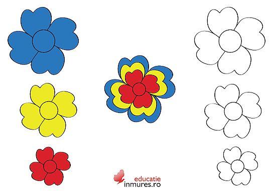 Ecuson în formă de floare pentru Ziua Nationala a Romaniei