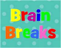 Brain break cards and classroom cheers