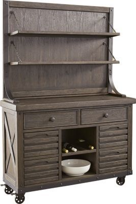 Eric Church Highway To Home Tap Room Brown 2 Pc Server With Hutch