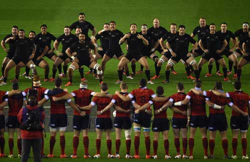 Totalposter.com - The All Blacks perform the Haka prior to the Viagogo Autumn International match between Scotland and New Zealand at Murrayfield Stadium in Edinburgh