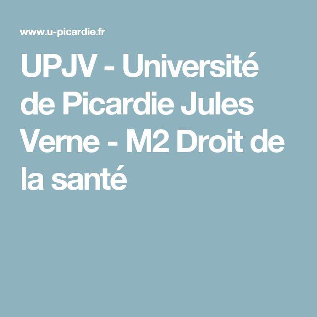 UPJV - Université de Picardie Jules Verne - M2 Droit de la santé