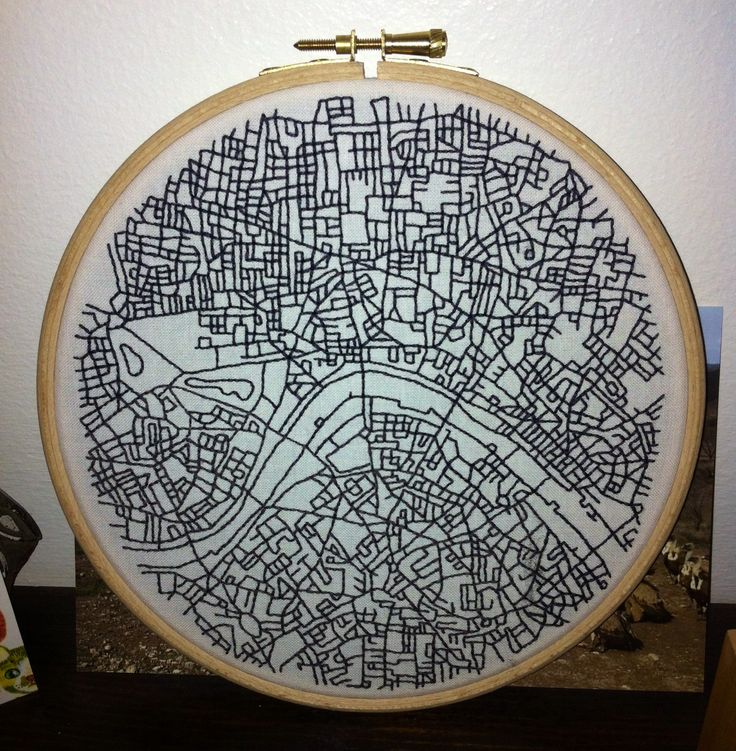Embroidered map of London