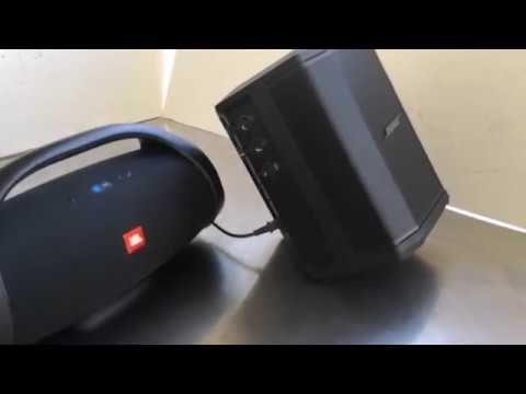 Bose S1 Pro v JBL Boombox Bass test - YouTube   JBL