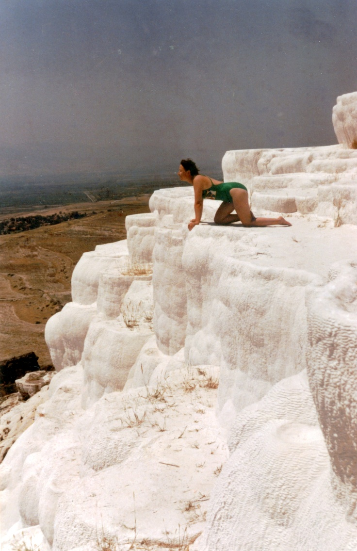 Pamukkale, means Cotton Fortress, in Turkey.