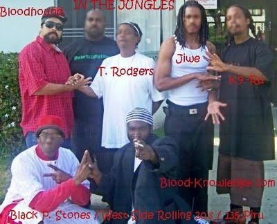 O Block Gang Sign blood piru know...