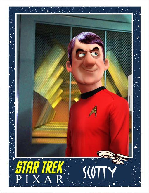 """So it's """"young"""" Scotty... Pixar Style STAR TREK Fan Art - GeekTyrant"""