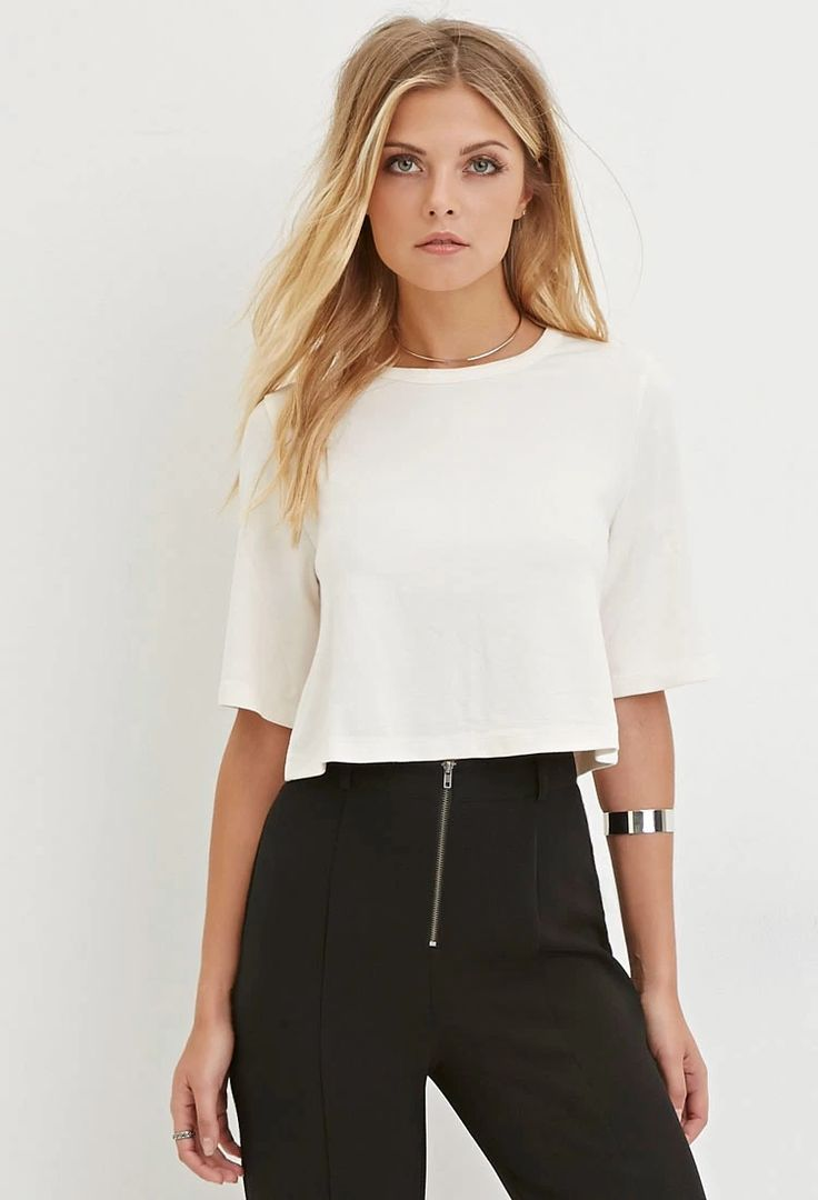 Contemporary Cutout-Back Crop Top #f21contemporary