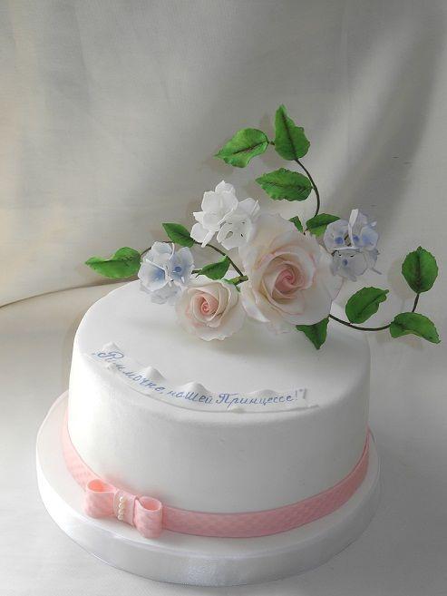 Торт Нежность с розами #торт_на_заказ_одесса #день_рождения #бисквитный_торт #шоколадный_торт #комбинированный_торт