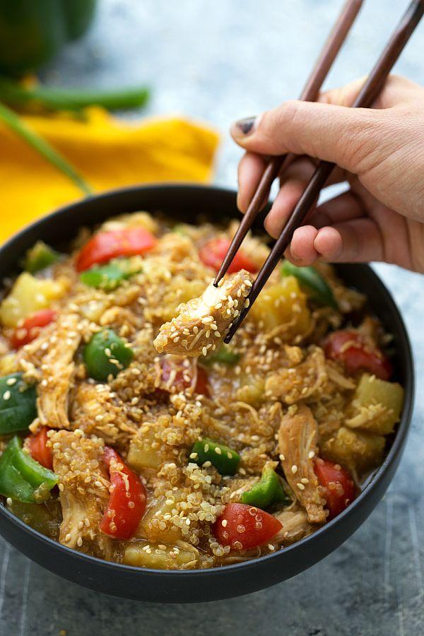 Crockpot Quinoa Teriyaki Chicken