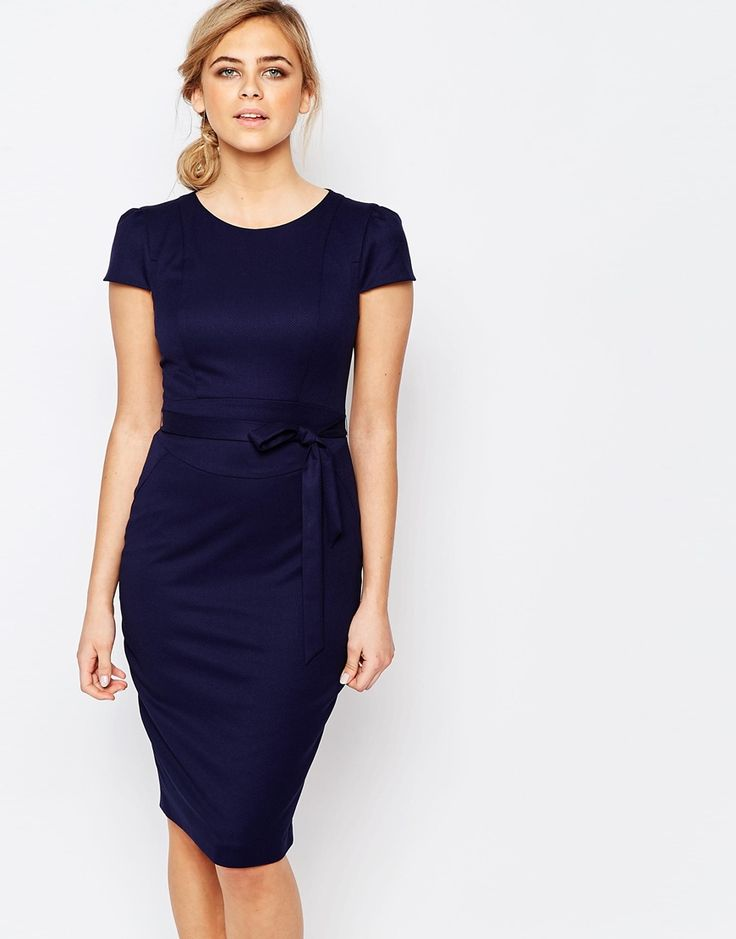 Oasis+Structured+Pencil+Dress