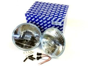 Halogen headlights with sidelight - pair RHD from 94MY