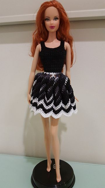 Ravelry: Barbie Twisted Chevron Dress pattern by Dez Alyxander