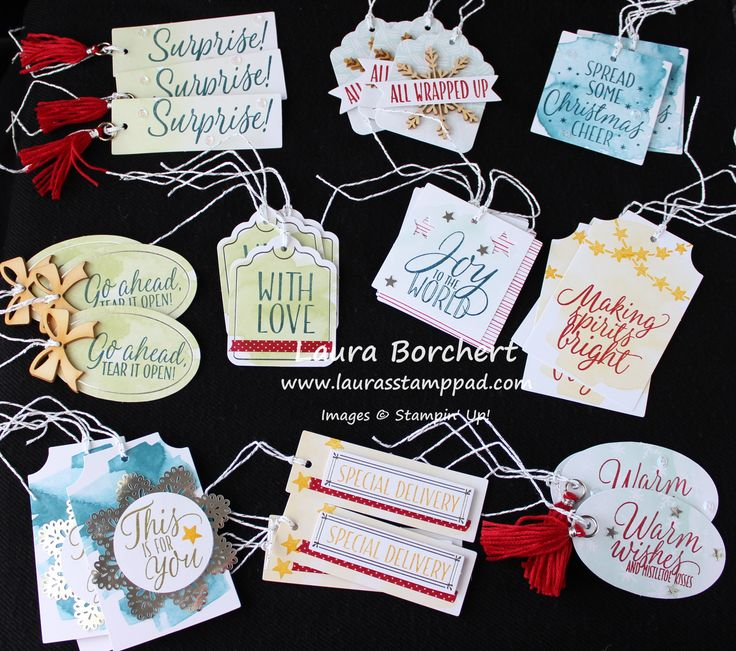 30 Christmas Tags, www.LaurasStampPad.com