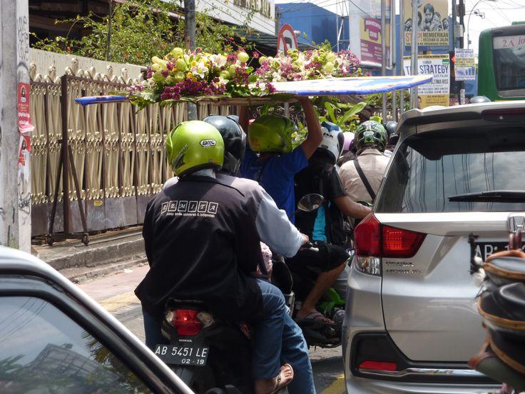 scooterdriver met bijzondere last
