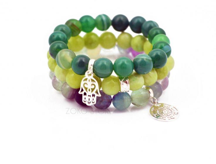 Bransoletki z zielonych jadeitów <3 #bransoletka #bransoletki