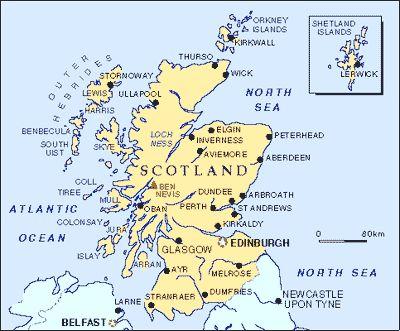 Touring Map Scotland | Tour Routes in Scotland | Scotland Travel