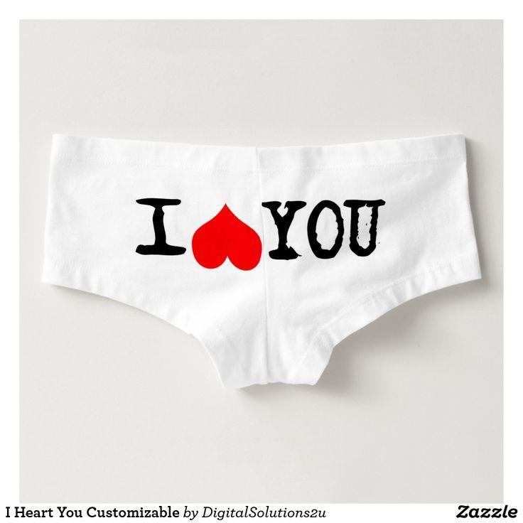 I Heart You Customizable Hot Shorts