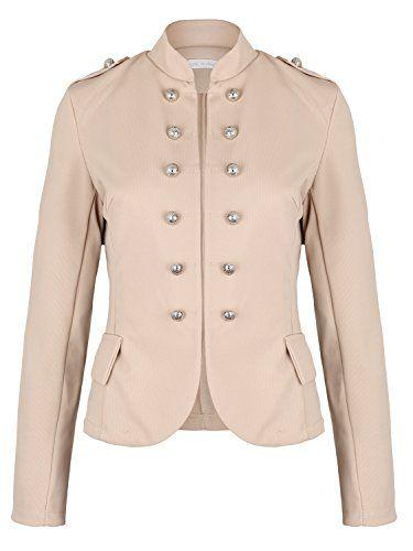 92aafc2936d6 Damen Blazer Militäry Style (514) Farbe Beige Kostüme   Blazer für Damen