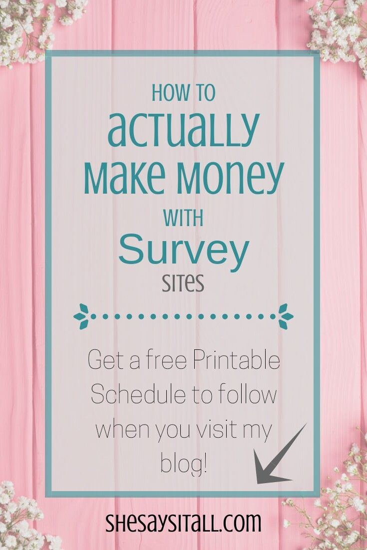 Make money using survey sites. Follow my printable schedule filled with tips and tricks and actually make some spending money using my three favorite survey sites. Survey sites | Make money from home | Side gigs | Stay at home mom | Blogging