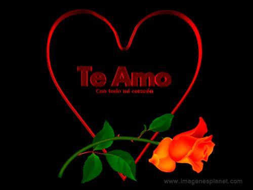 Imagenes animadas de corazon con rosa