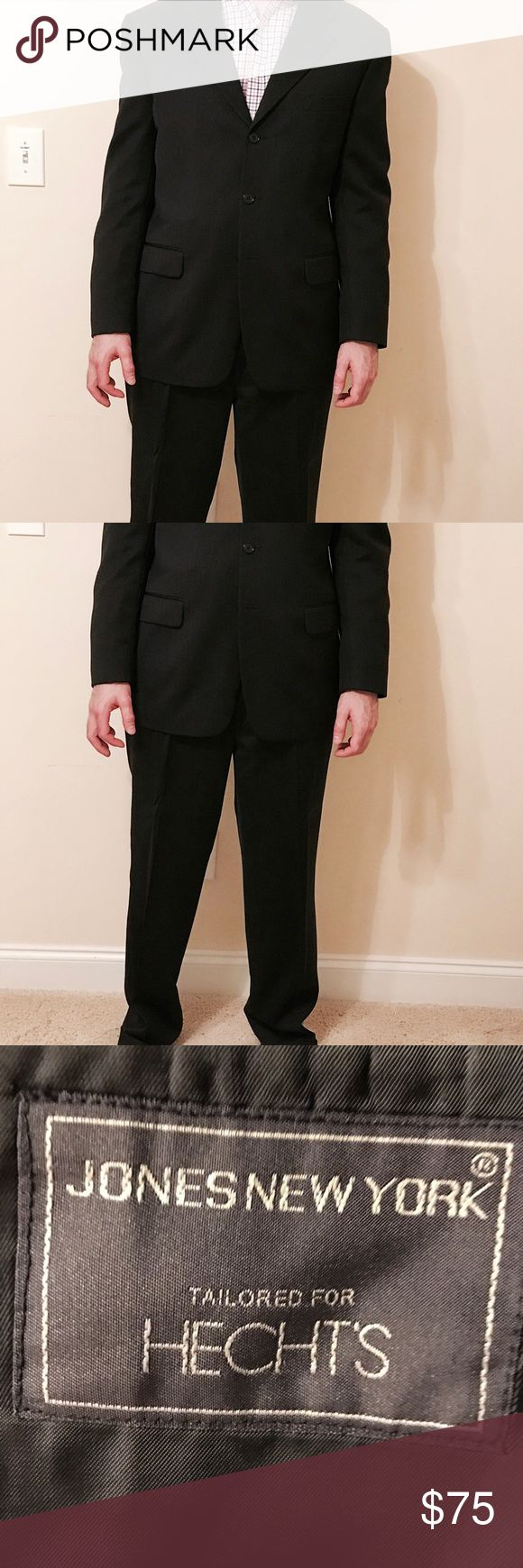 EUC Men's Suit SALE!!!!!! Dark Two Piece Suit, Three Button Front, Color is very dark gray, nearly black. Worn Once. Jones New York Suits & Blazers Suits