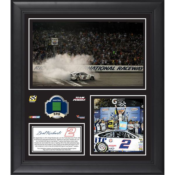 """Brad Keselowski Fanatics Authentic Framed 15"""" x 17"""" 2014 Federated Auto Parts 400 at Richmond International Raceway Race Winner Collage With Race-Used Tire - $79.99"""