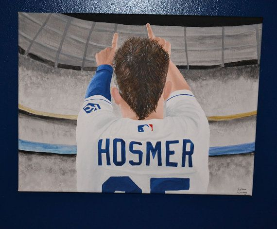 Eric Hosmer Kansas City Royals Painting by 21CannonSalute on Etsy 2015 Price Slash!