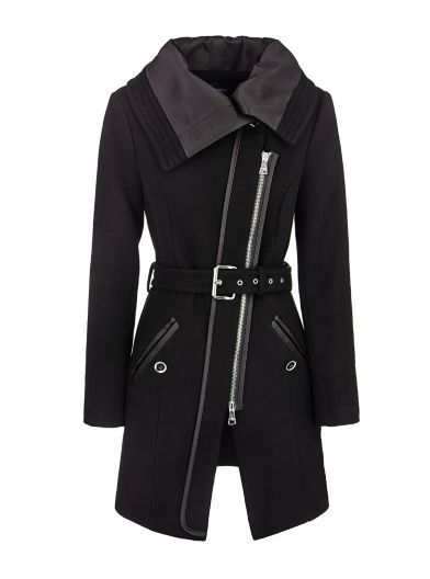 Marciano Coat with straight collar