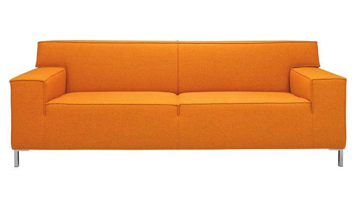 Backspace - 3-zits bank - mandarin   Koop nu €1.199,00   Laagste Prijs Garantie