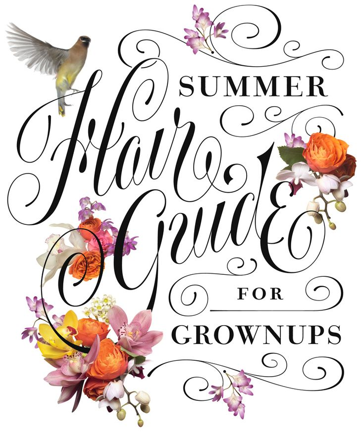 Jessica Hische - Summer Hair Guide - #typography #type